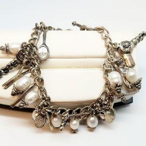 Vintage Beauty Lover Charm Bracelet